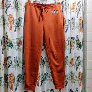 Gap Logo Fleece Joggers - Orange Men's S